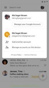Gmail почта скриншот 2