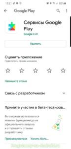 Сервисы Google Play скриншот 1