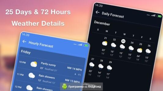 Прогноз погоды и виджет скриншот 3