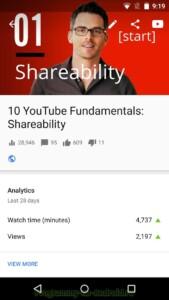 Творческая студия YouTube скриншот 4