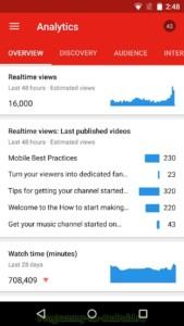 Творческая студия YouTube скриншот 8